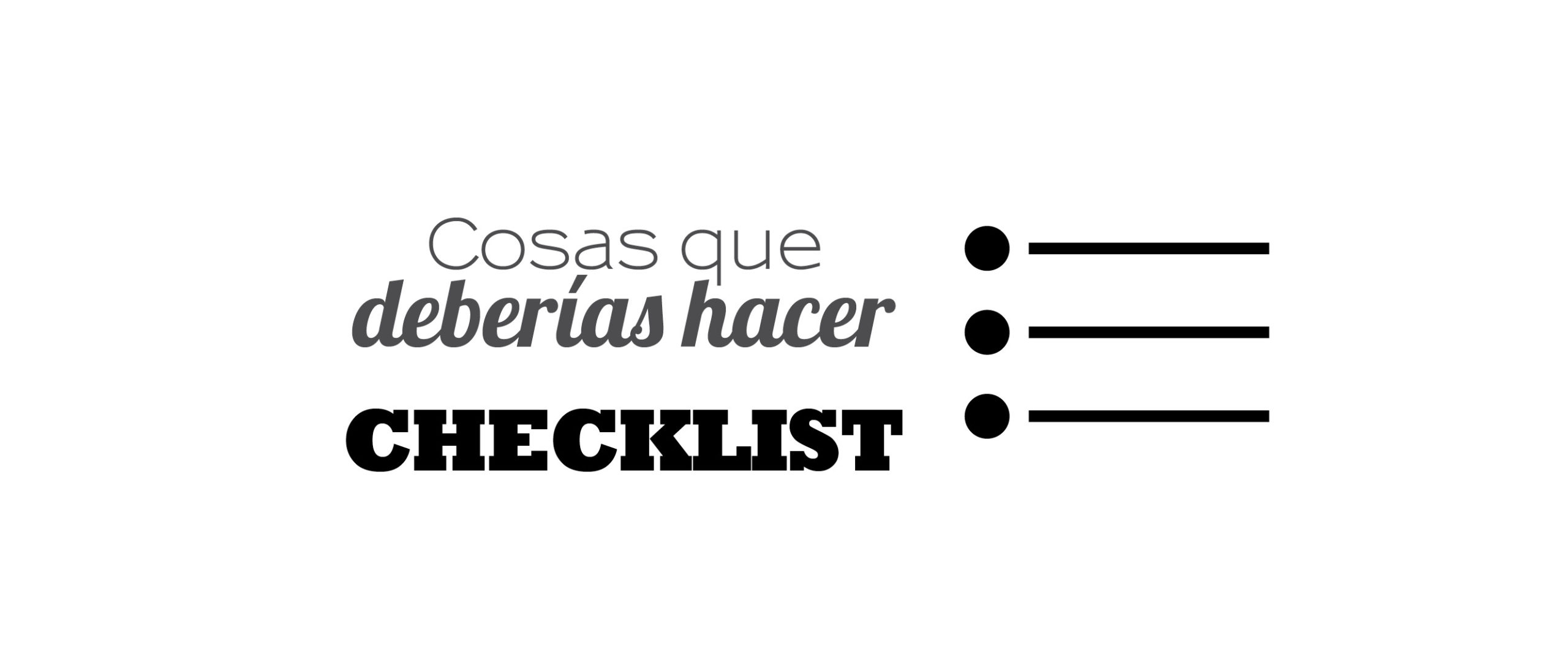 Checklist Cosas que hacer